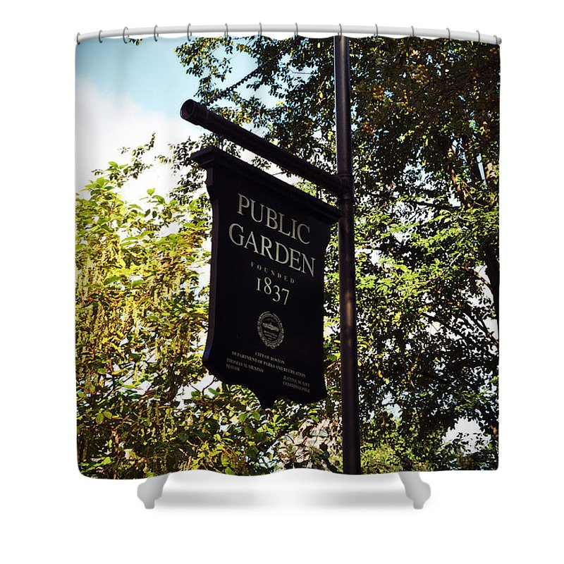 Garden Shower Curtain featuring the photograph Public Garden 1837 Boston by Brittany Horton