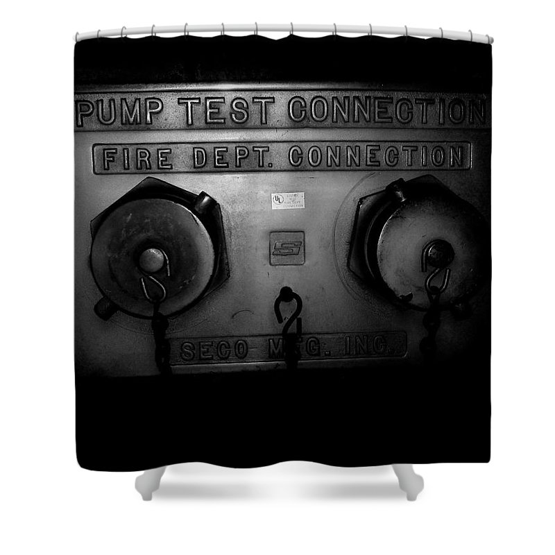 Color Photograph Shower Curtain featuring the photograph Pump Test Two by Thomas Valentine