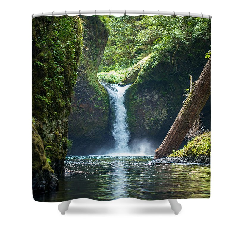Punch Bowl Falls Shower Curtain featuring the photograph Punch Bowl Falls by Heather Raeburn