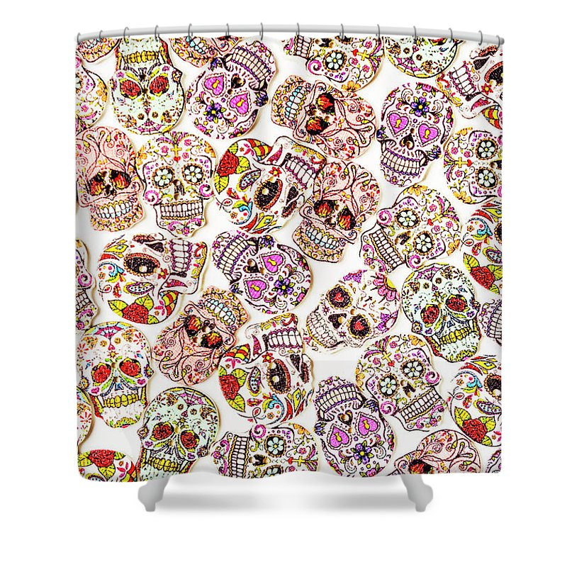 Skeleton Shower Curtain featuring the photograph Punk Rock Pattern by Jorgo Photography - Wall Art Gallery