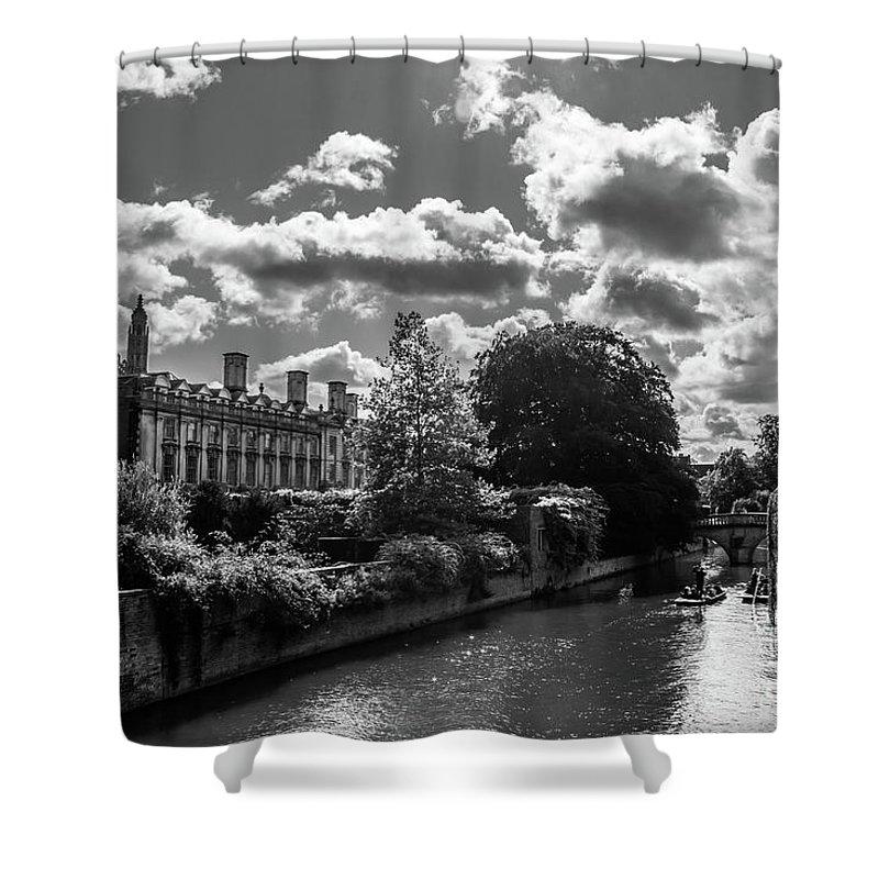 Punting Shower Curtain featuring the photograph Punting, Cambridge. by Nigel Dudson