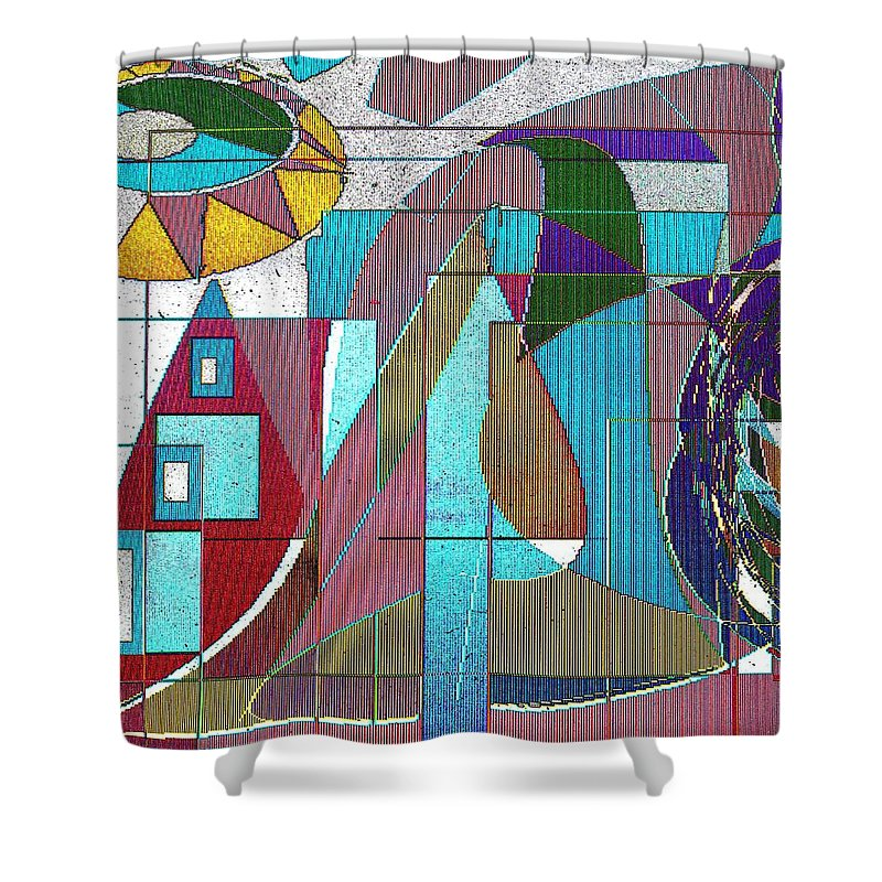 Purple Shower Curtain featuring the digital art Purple And Blue by Ian MacDonald
