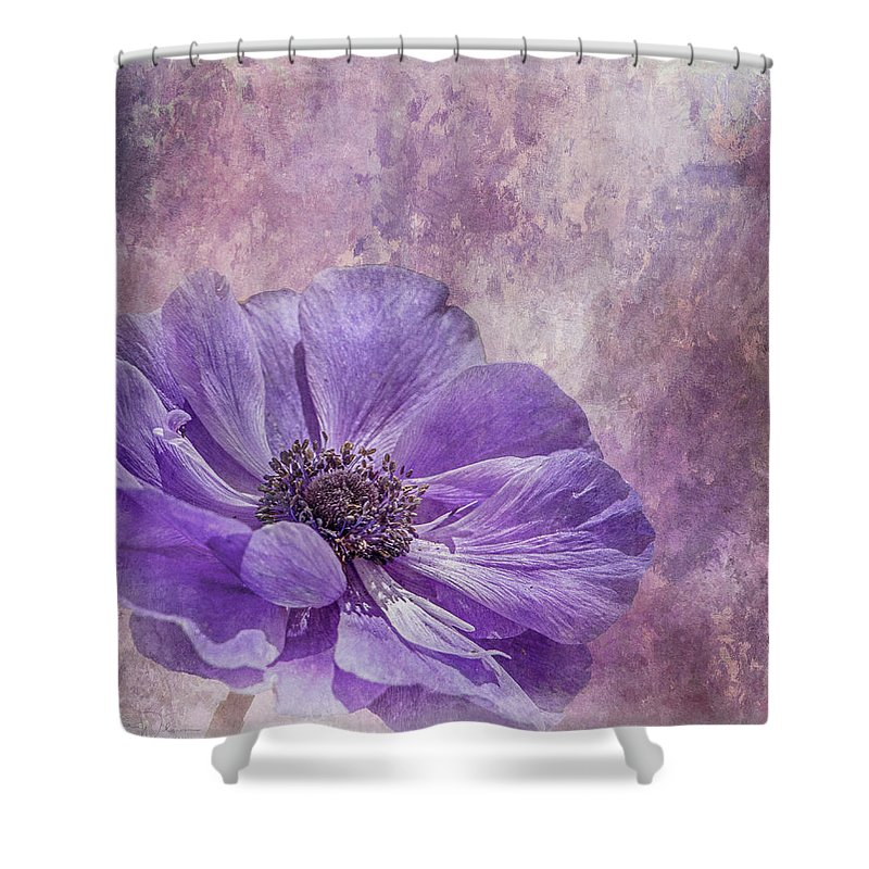 Tl Wilson Photography Shower Curtain featuring the photograph Purple Anemone Art by Teresa Wilson