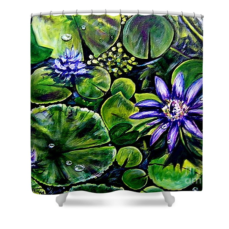 Purple Shower Curtain featuring the painting Purple Dawn by Elizabeth Robinette Tyndall