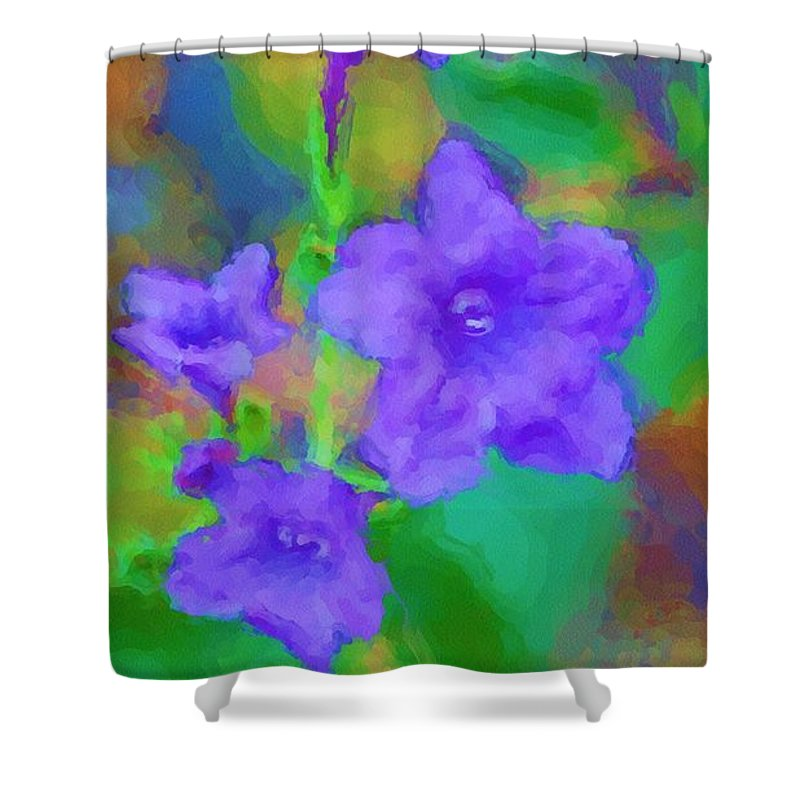Floral Shower Curtain featuring the photograph Purple Flowers 102310 by David Lane