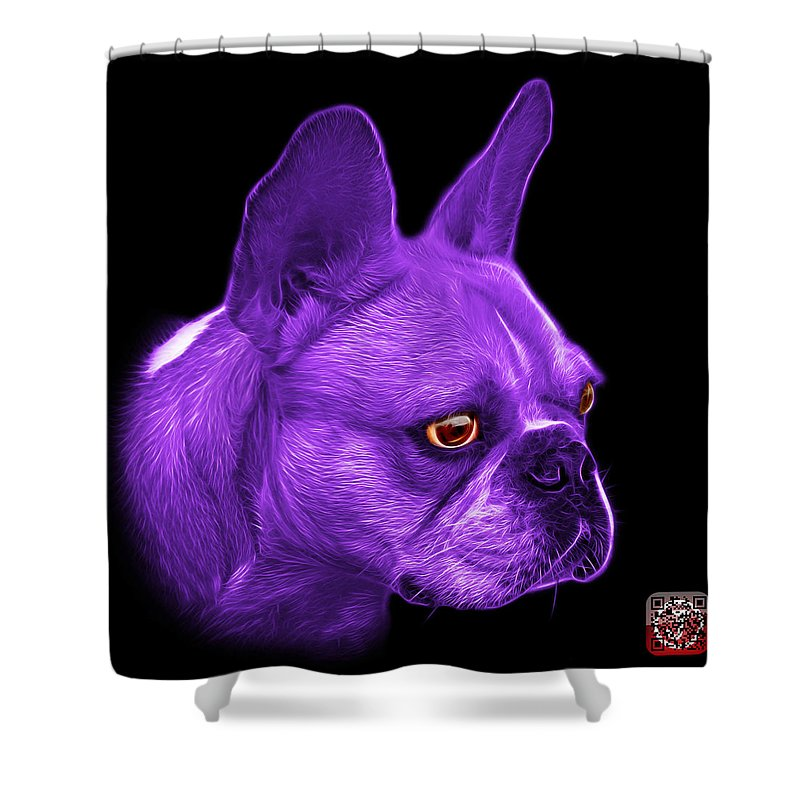 Purple French Bulldog Pop Art