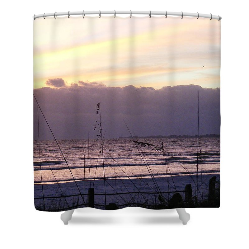 Landscape Shower Curtain featuring the photograph Purple Haze by Ed Smith