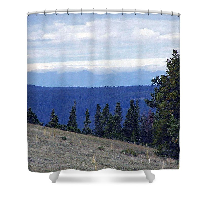 Wyoming Shower Curtain featuring the photograph Purple Mountains Majesty by Forrest Shaw