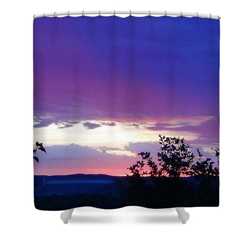Purple Sunset Shower Curtain featuring the photograph Purple Passion by Toni Berry