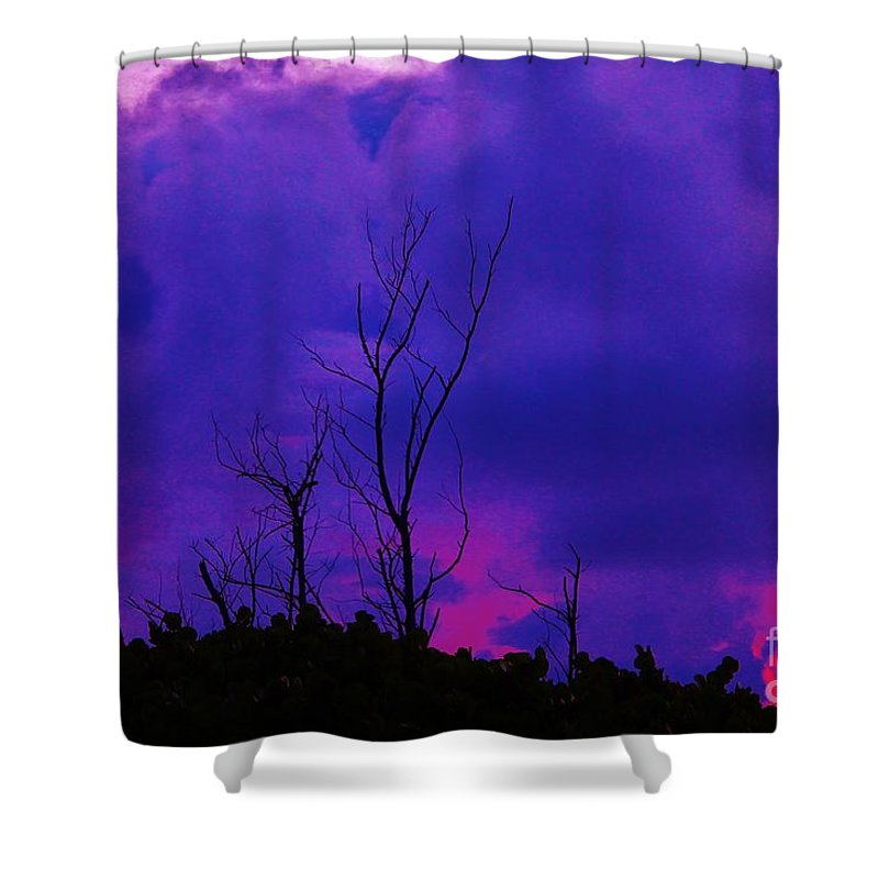 Kerisart Shower Curtain featuring the photograph Purple Rain by Keri West