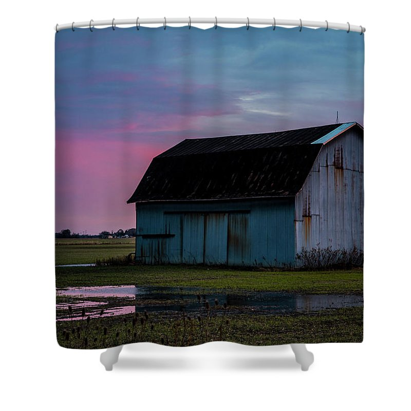 Purple Sky Shower Curtain featuring the photograph Purple Sky by Angela Mocniak