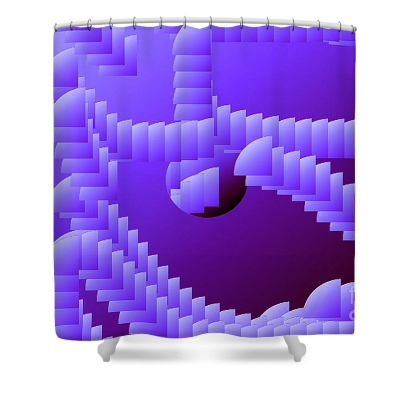 Digital Shower Curtain featuring the digital art Quarter Shell by Ron Bissett