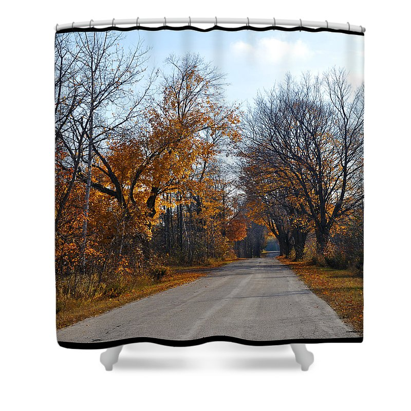 Road Shower Curtain featuring the photograph Quarterline Road by Tim Nyberg