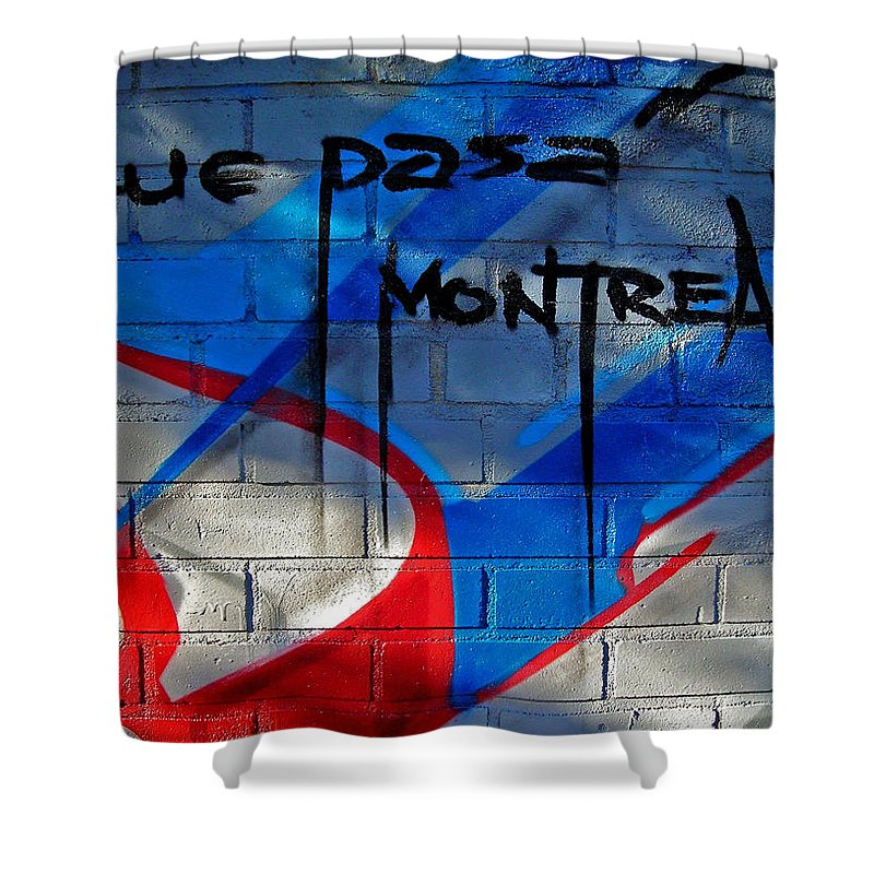 Paint Shower Curtain featuring the photograph Que Pasa ... by Juergen Weiss