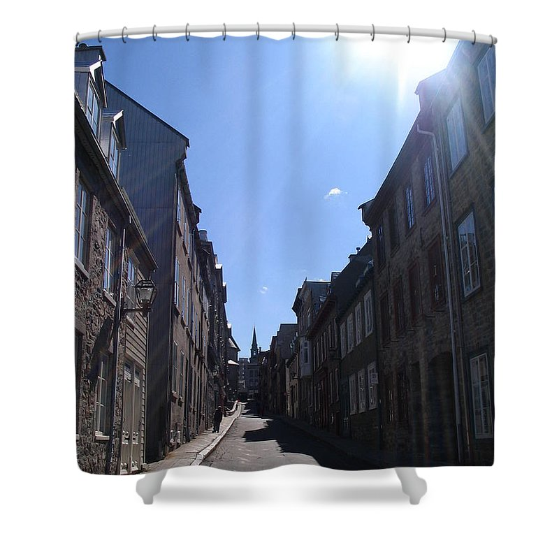 Shower Curtain featuring the photograph Quebeccity 2 by Line Gagne