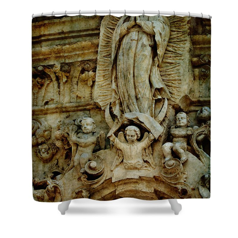 Religious Shower Curtain featuring the photograph Queen Of The Missions by Renee Hong