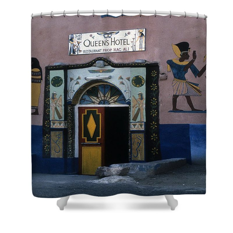 Habou Shower Curtain featuring the photograph Queen's Hotel Habou Egypt by Gary Wonning