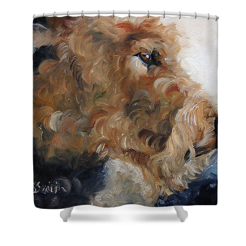 Art Shower Curtain featuring the painting Quiet Moment by Mary Sparrow