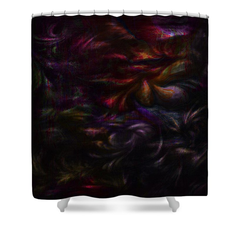 Abstract Shower Curtain featuring the digital art Quiet Places Of Long Ago by Rachel Christine Nowicki