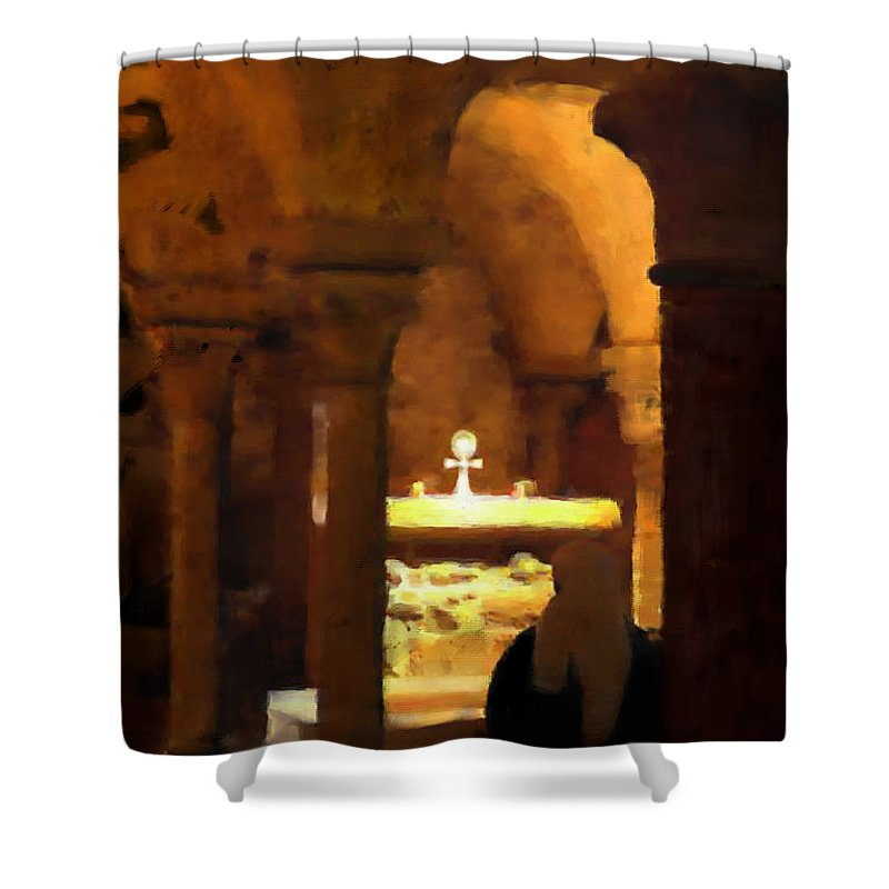 Prayer Shower Curtain featuring the painting Quiet Prayers by Stephen Lucas