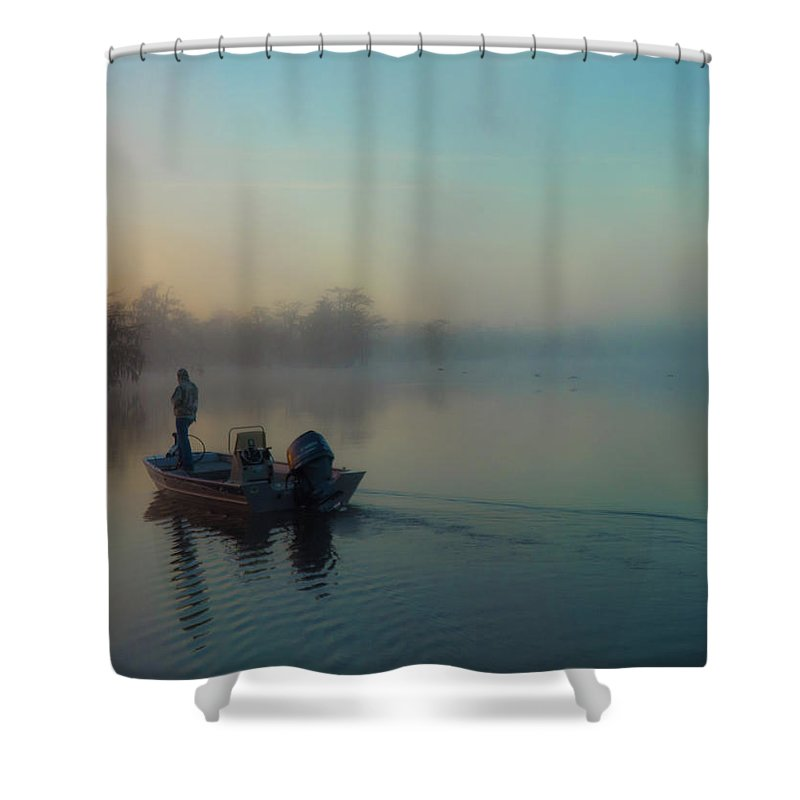 Orcinus Fotograffy Shower Curtain featuring the photograph Quiet Time by Kimo Fernandez
