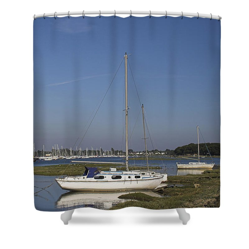 Quiet Shower Curtain featuring the photograph Quiet Waters by Hazy Apple