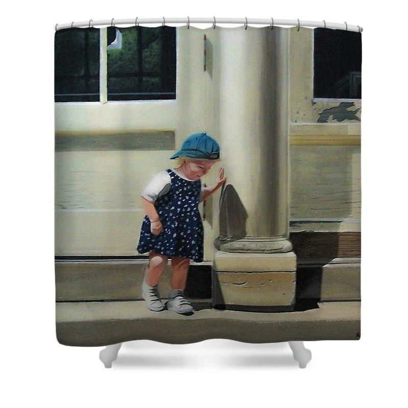 Children Shower Curtain featuring the painting Rachel by Kenneth M Kirsch