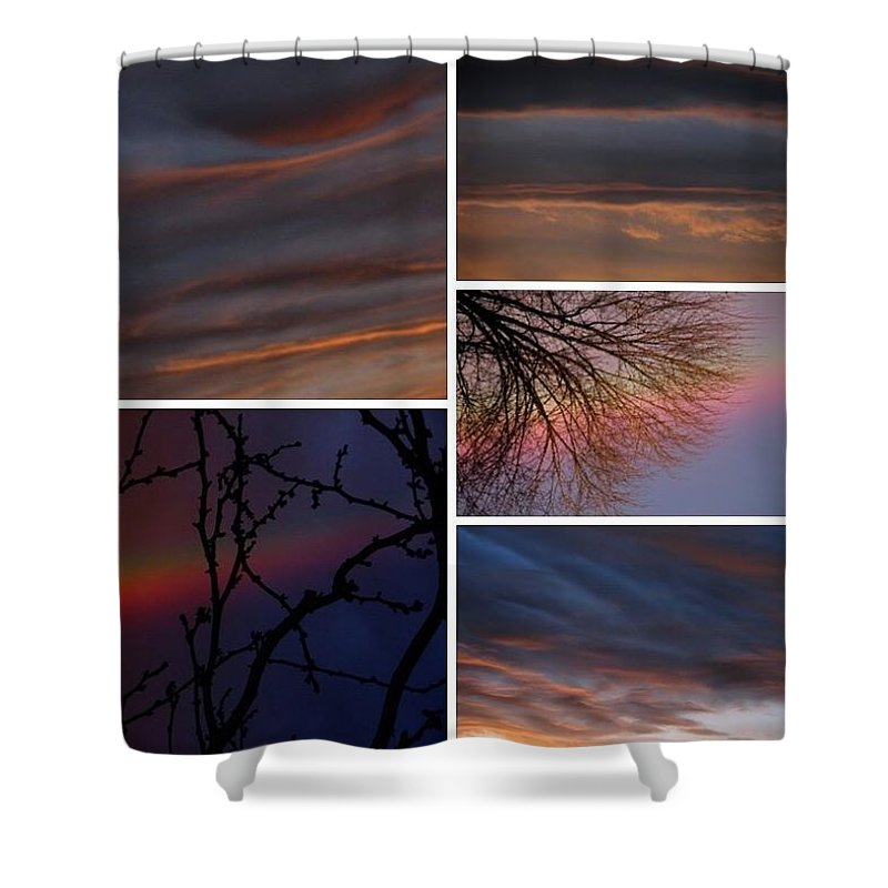 Shower Curtain featuring the photograph Racing Digital Thoughts, V. IIi by Chris Dunn