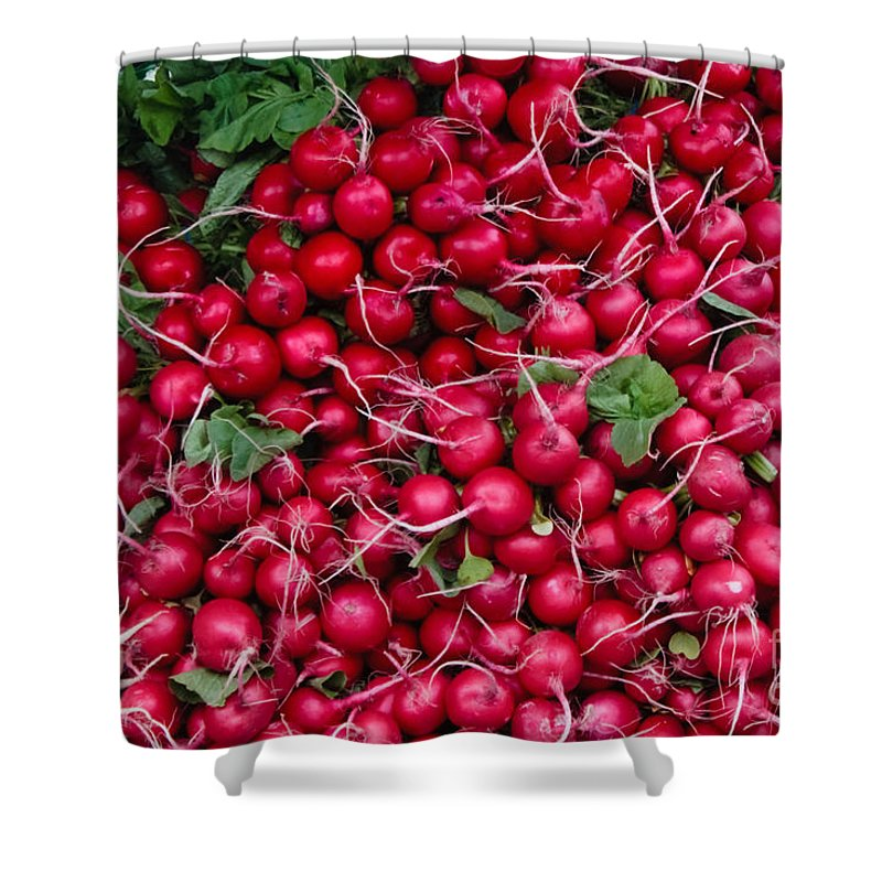 Radish Shower Curtain featuring the photograph Radishes by Thomas Marchessault