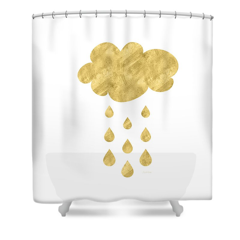 Rain Shower Curtain featuring the mixed media Rain Cloud- Art by Linda Woods by Linda Woods