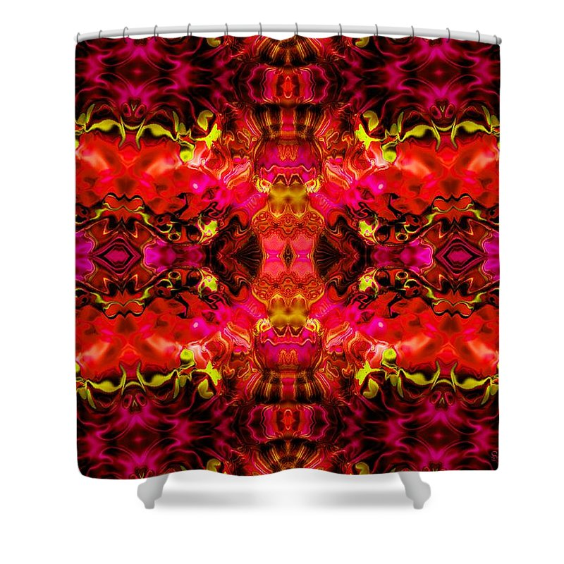 Fire Shower Curtain featuring the mixed media Hard Rain by Robert Orinski