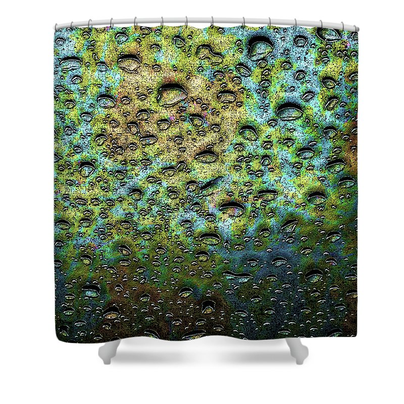 Rain Shower Curtain featuring the digital art Rain Stains by Leslie Montgomery