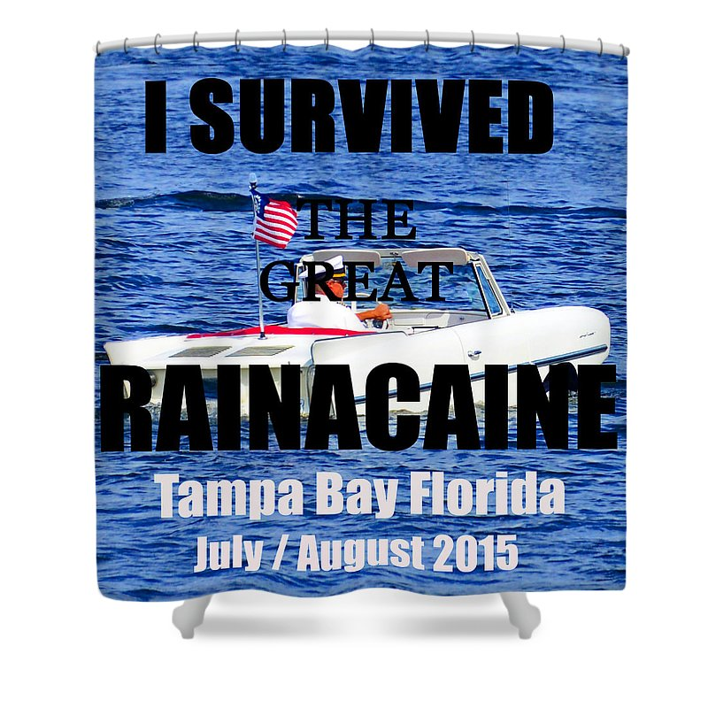 Flood Shower Curtain featuring the photograph Rainacaine Tampa Bay 2015 by David Lee Thompson