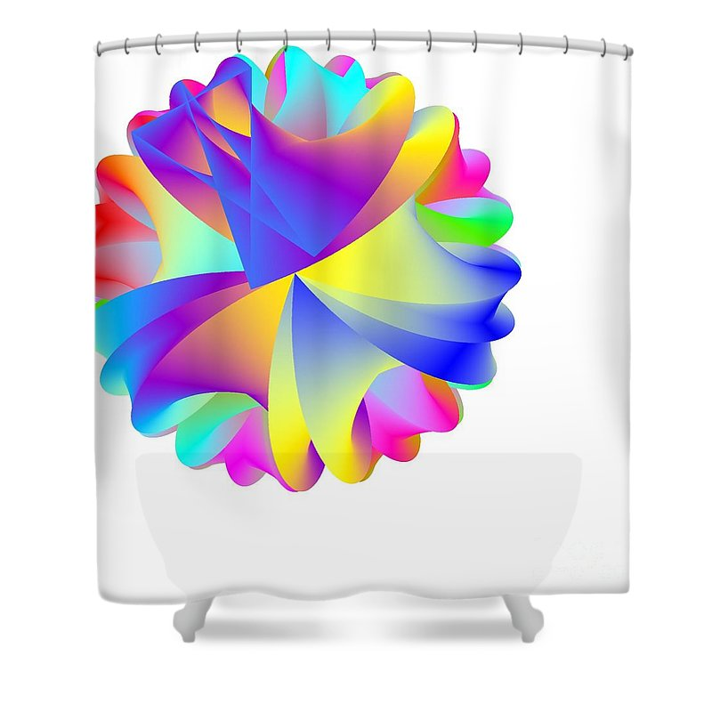 Rainbow Cluster Shower Curtain featuring the digital art Rainbow Cluster by Michael Skinner