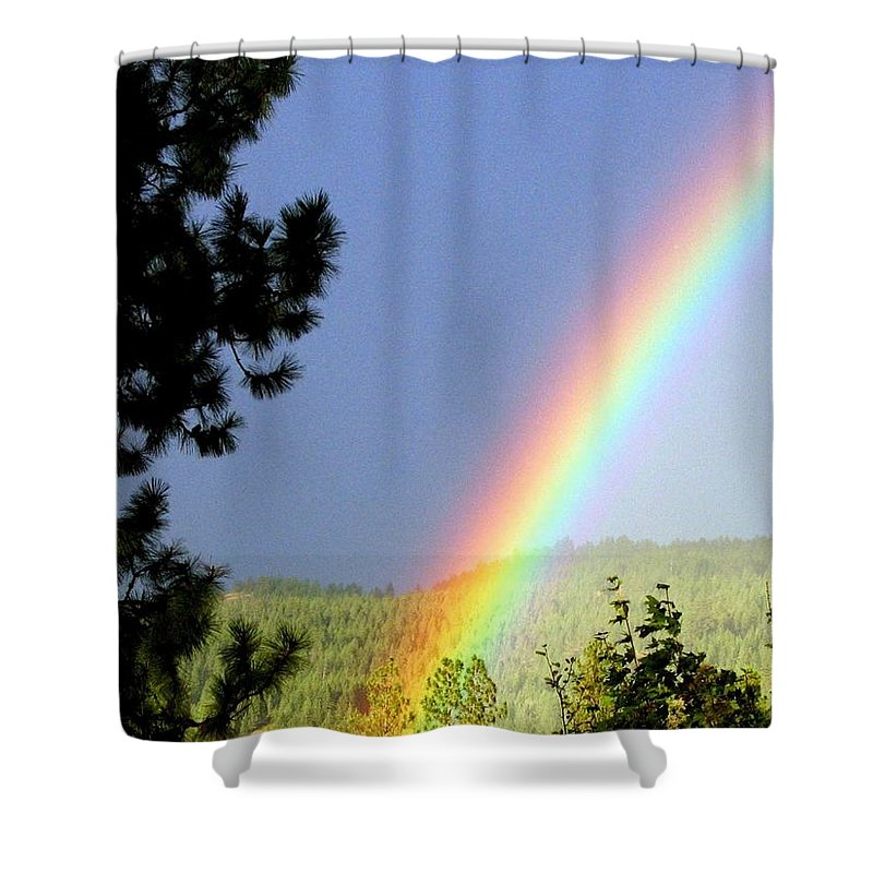Rainbow Shower Curtain featuring the photograph Rainbow Covenant by Will Borden