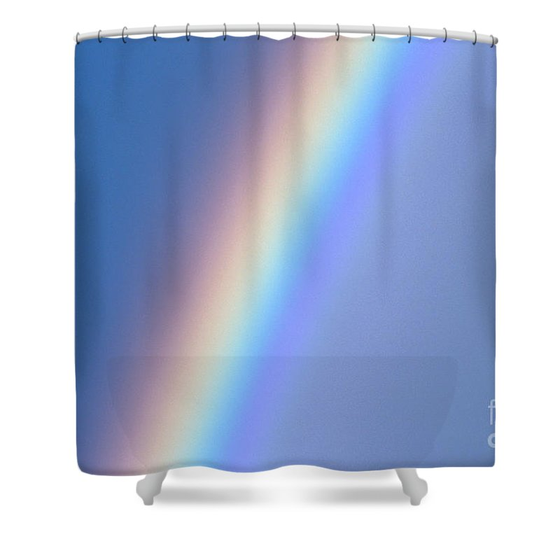 Beautiful Shower Curtain featuring the photograph Rainbow In Gray Skies by Mary Van de Ven - Printscapes