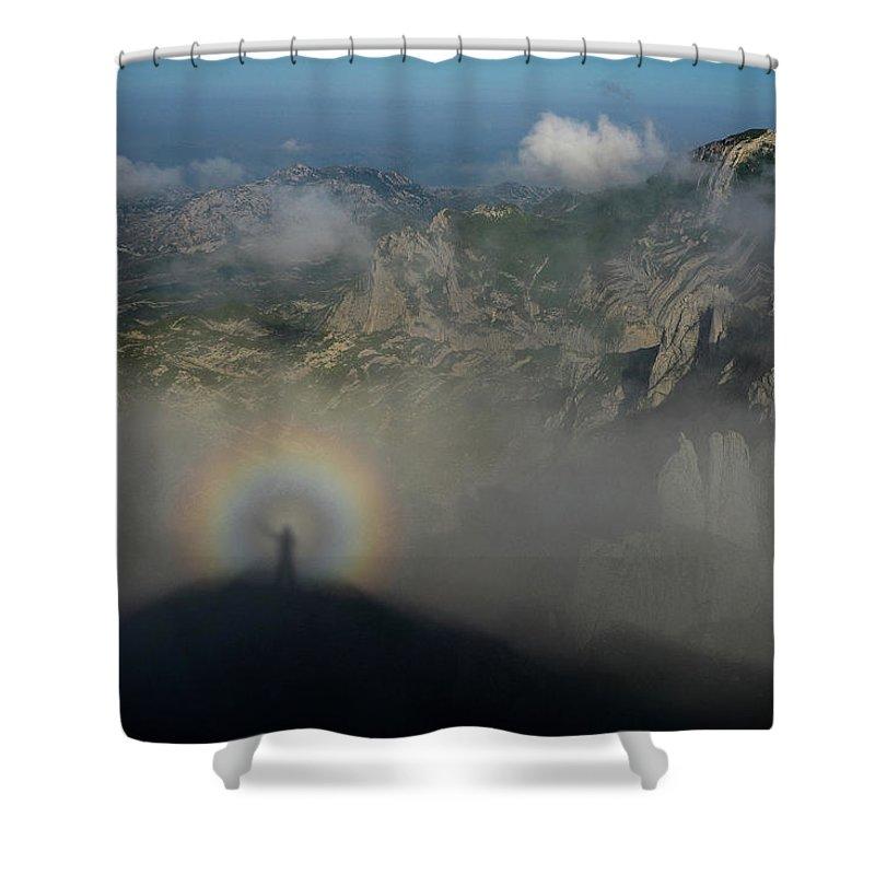 Landscape Shower Curtain featuring the photograph Rainbow-man by Dejan Dajkovic
