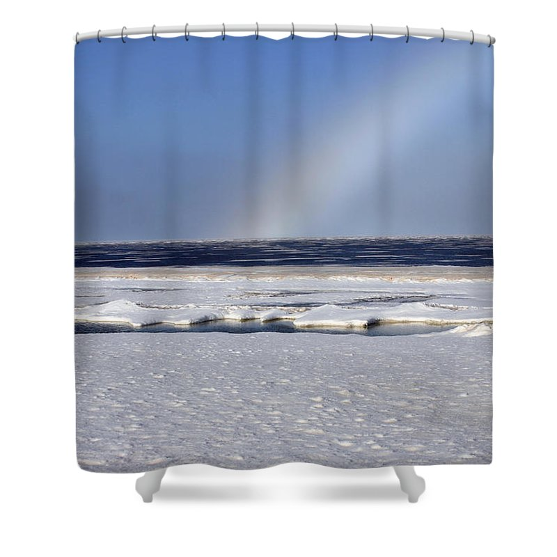 Rainbow Shower Curtain featuring the photograph Rainbow Over The Arctic by Anthony Jones