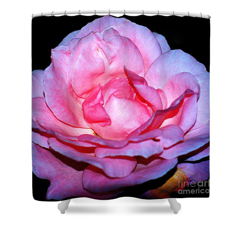 Clay Shower Curtain featuring the photograph Rainbow Rose by Clayton Bruster