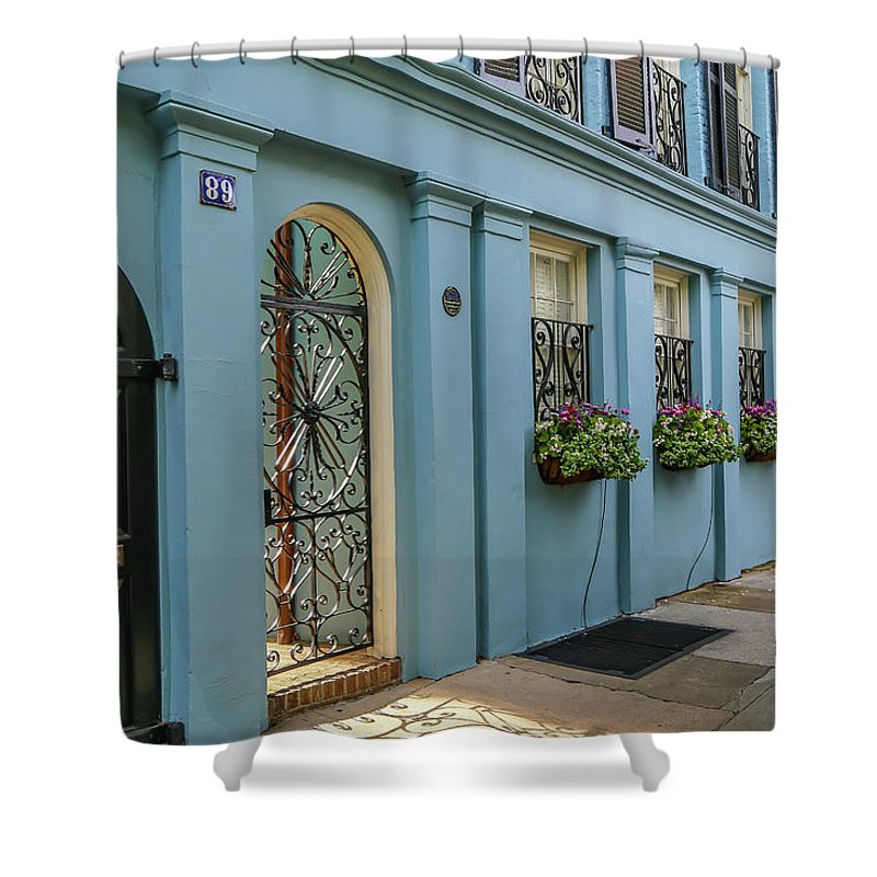 Pastels Shower Curtain featuring the photograph Rainbow Row by Kevin Craft