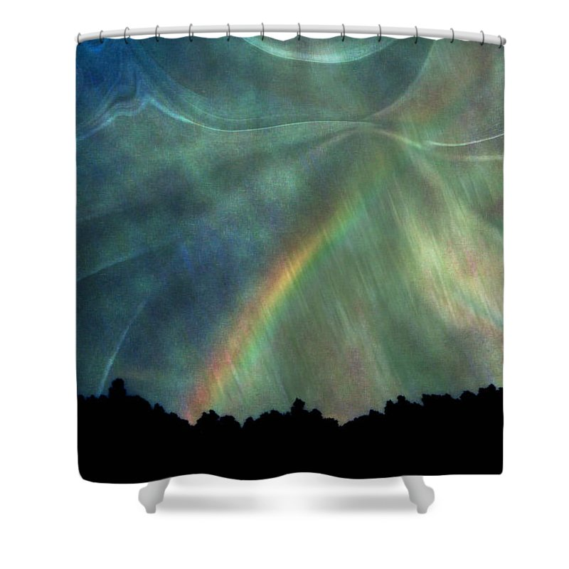 Nature Shower Curtain featuring the photograph Rainbow Showers by Linda Sannuti