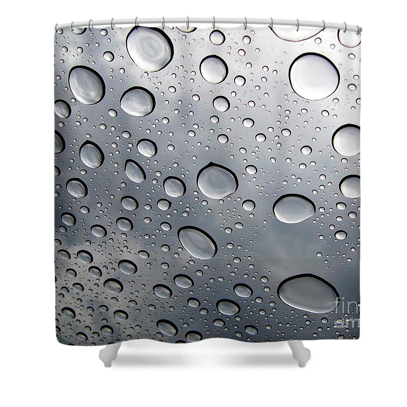 Rain Shower Curtain featuring the photograph Raindrops by Kenna Westerman