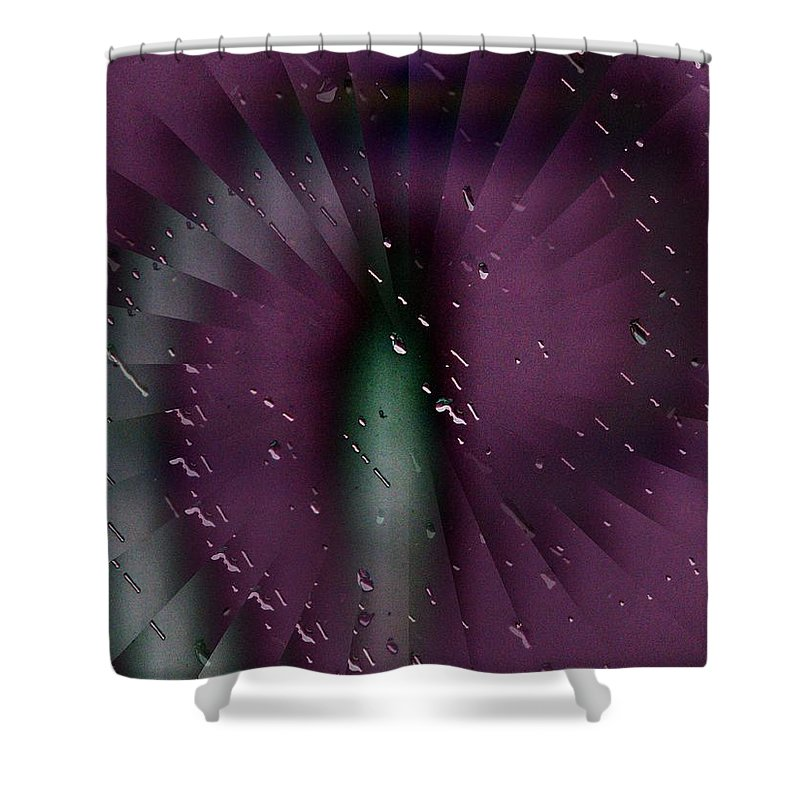 Rain Shower Curtain featuring the digital art Rainy Window by Tim Allen
