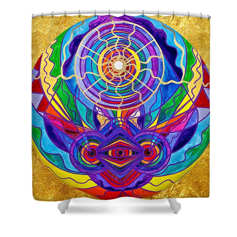 Vibration Shower Curtain featuring the painting Raise Your Vibration by Teal Eye Print Store