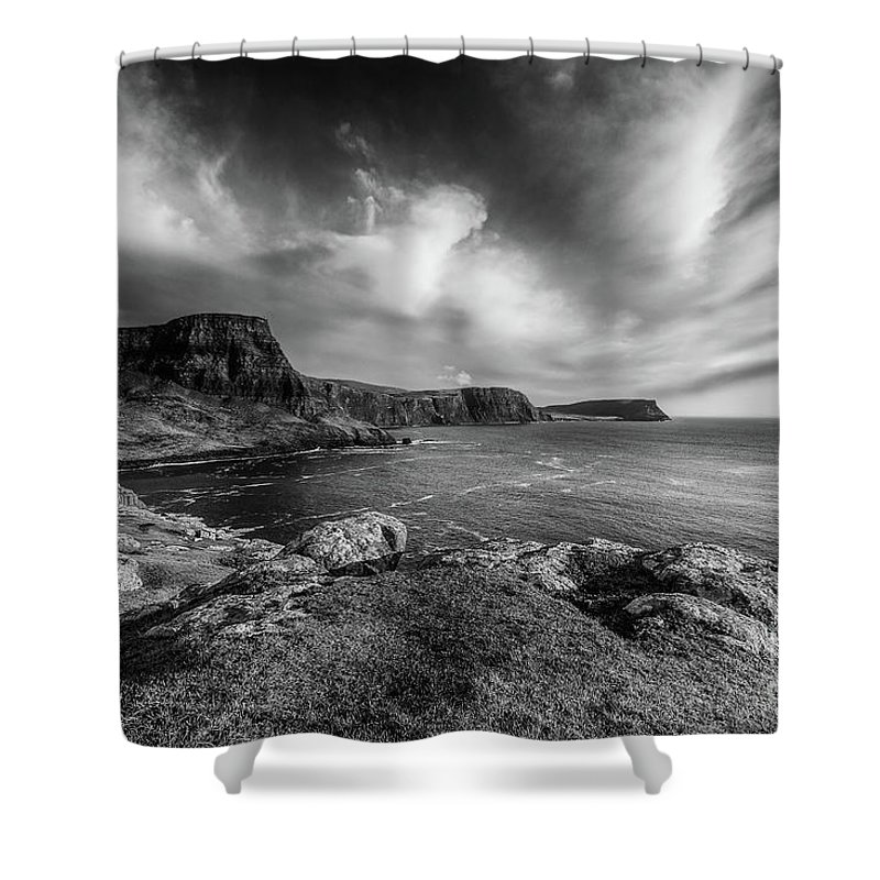 Neist Point Shower Curtain featuring the photograph Ramasaig Bay Neist Point by Keith Thorburn LRPS AFIAP CPAGB