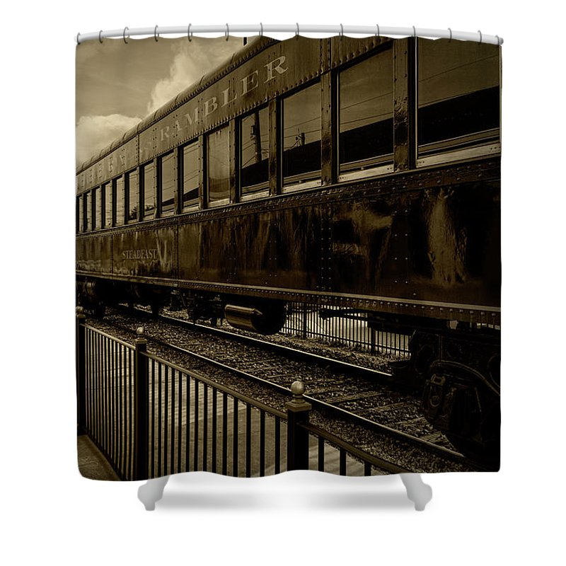 Knoxville Shower Curtain featuring the photograph Rambler by Sharon Popek