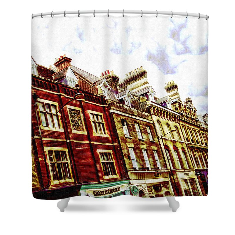 House Shower Curtain featuring the digital art Ramp Up by Lyriel Lyra