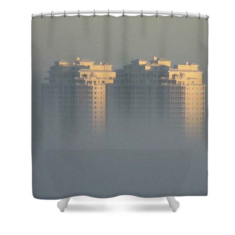 Raptor Bay Shower Curtain featuring the photograph Raptor Bay Morning Mist by Laurie Paci