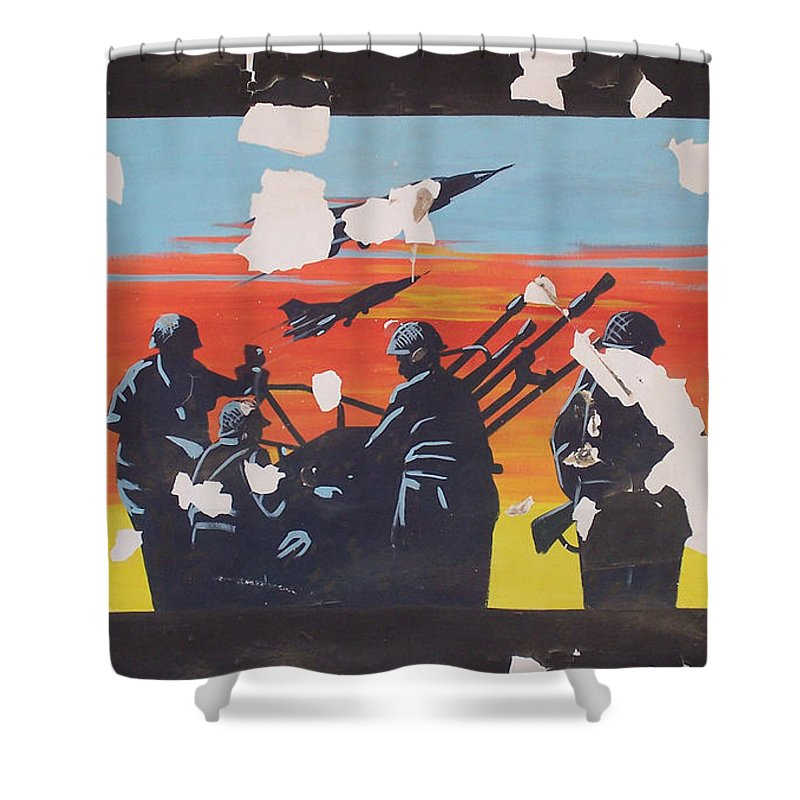Iraq Shower Curtain featuring the photograph The Colour Of War by Jeremy Berkheimer