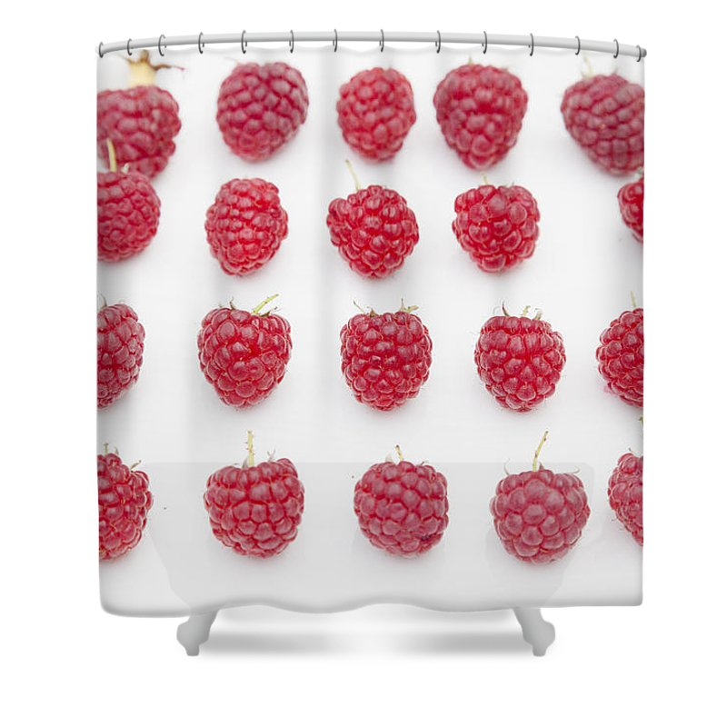 Fruits Shower Curtain featuring the photograph Raspberry by Maj Seda